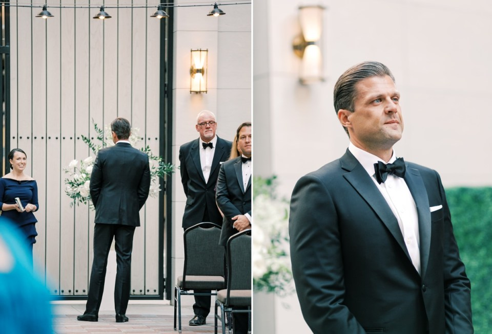 Groom's Reaction To Seeing Bride | | Shot on film by Mandy Ford Photography