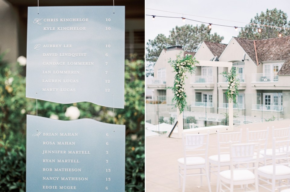 Frame Wedding Arch Inspiration at Coastal L'Auberge Del Mar Wedding In San Diego