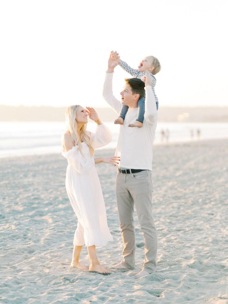 Playful Family Photos On Film In Coronado California