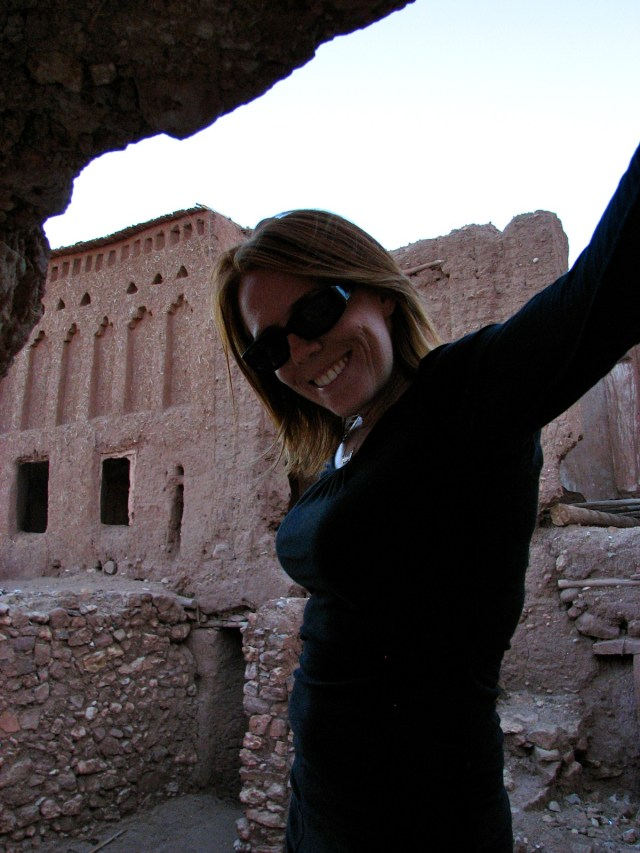 Happy on vacation in Morocco Copyright Mandy Sinclair