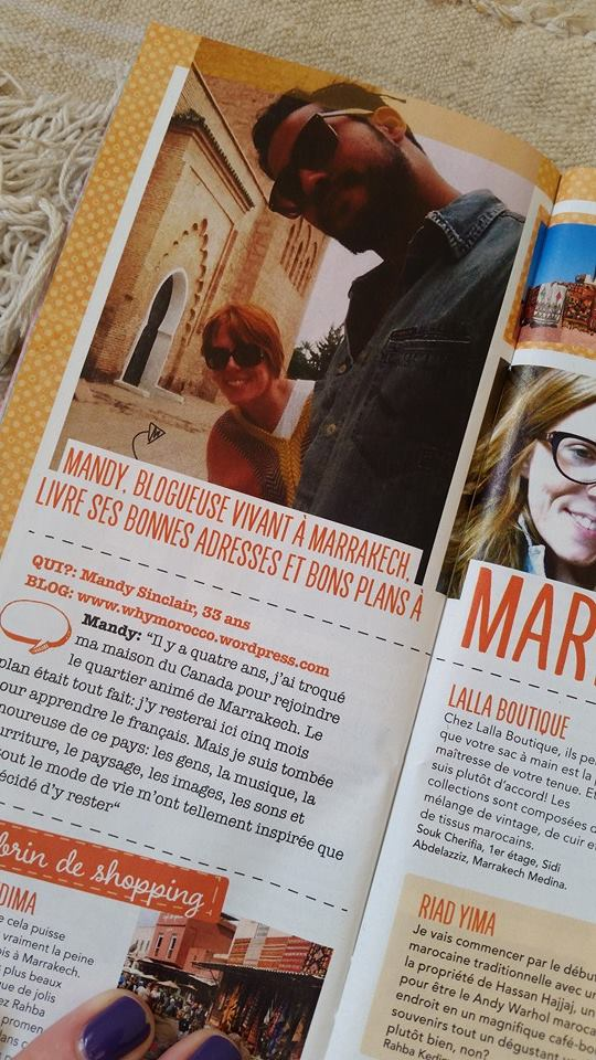 Flair magazine feature of Mandy Sinclair from WhyMorocco