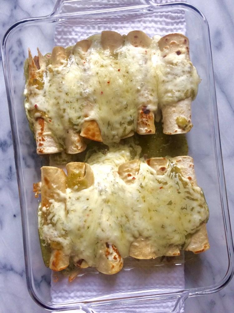 baked enchiladas verdes