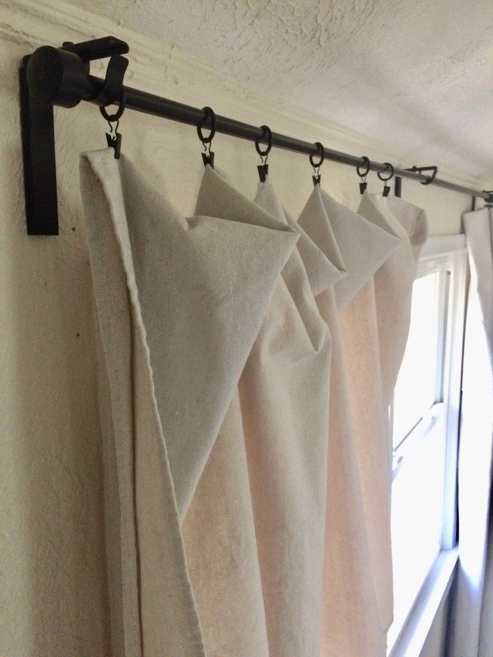 hanging drop cloth curtains