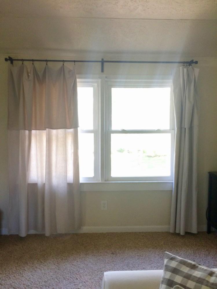 canvas drop cloth curtains