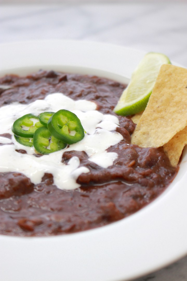 30 Minute Black Bean Soup