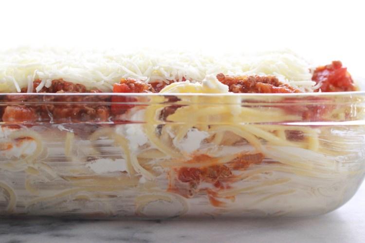 Homemade Baked Spaghetti