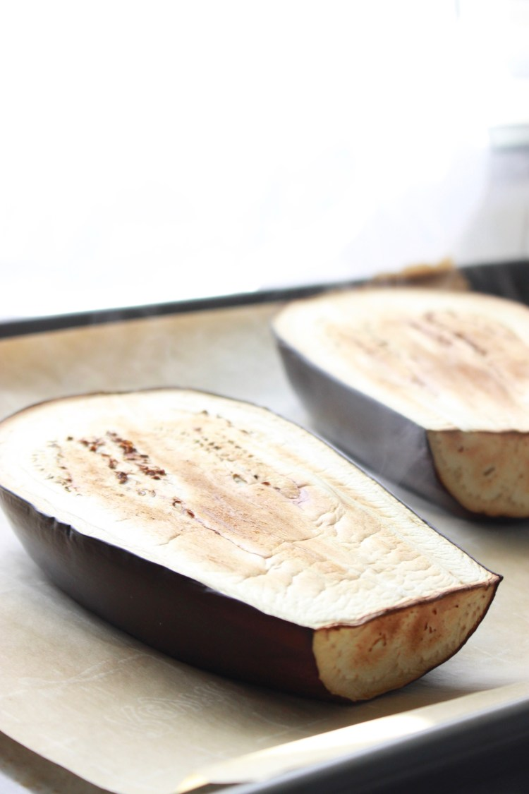 Roasted Eggplant for Baba Ganoush