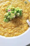 Fresh Corn Soup with Avocado Salsa