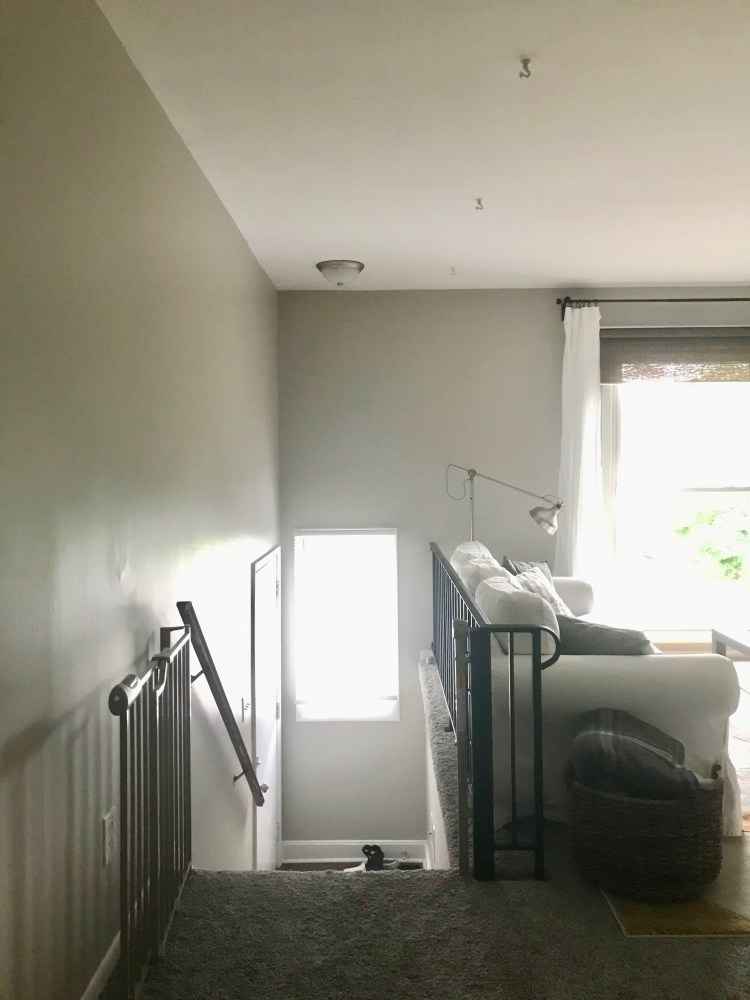 How to install baby gates at the top of the stairs when there's only one wall. An affordable, easy method for installing baby gates on a railing or spindle.