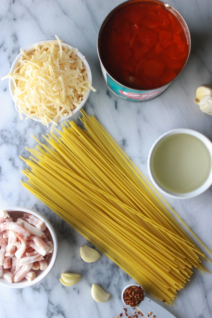 easy ingredients for amatriciana sauce