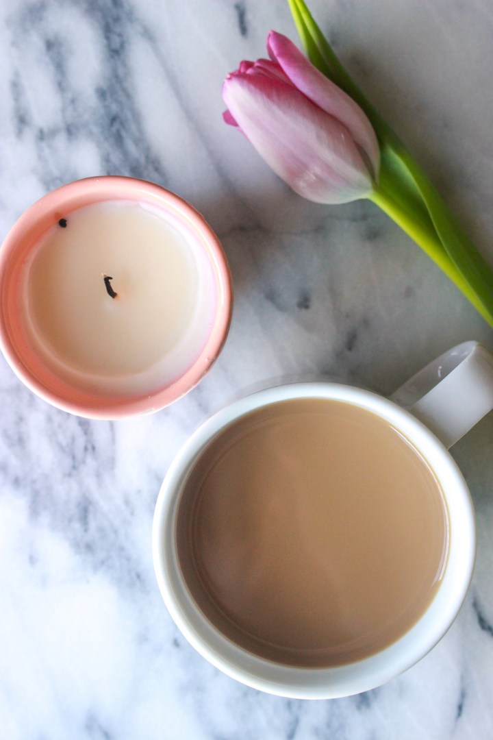 coffee, tulip, candle