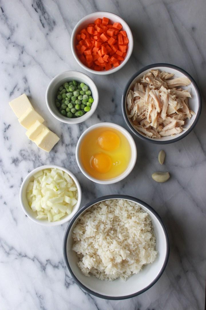 chicken fried rice ingredients