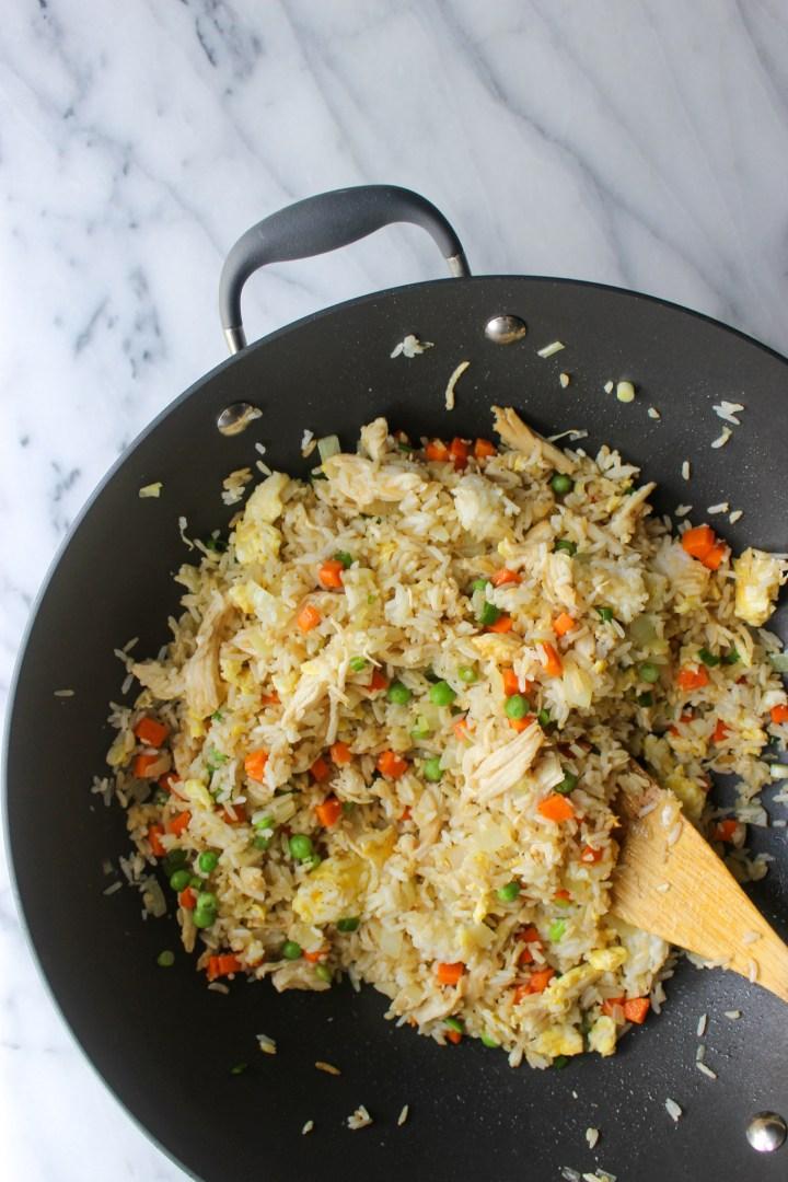 wok of fried rice
