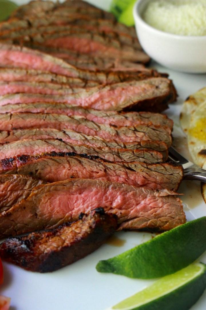 sliced mexican flank steak
