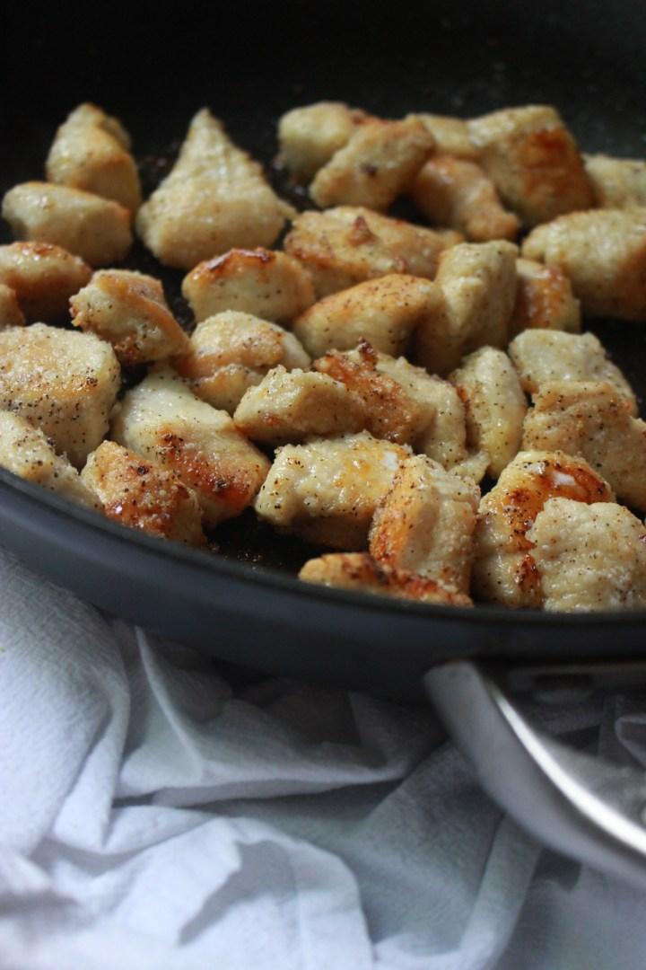 pan-fried chicken for orange chicken