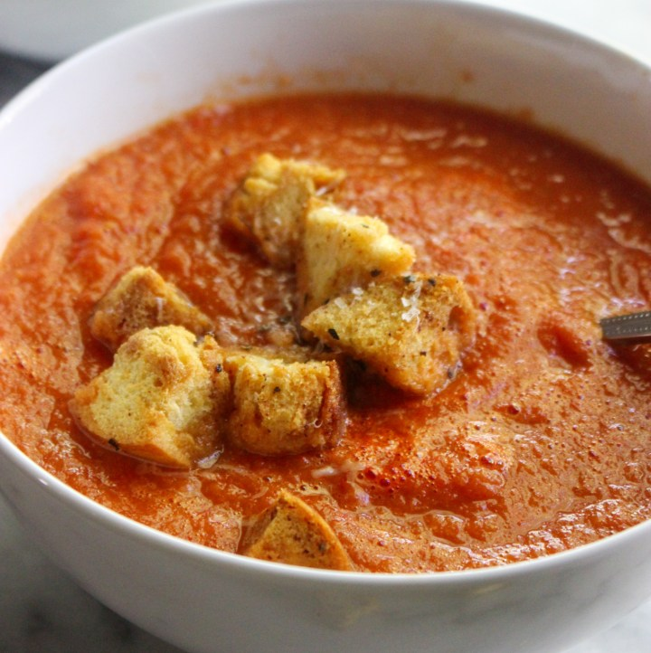 classic homemade roasted tomato soup