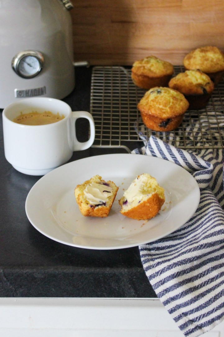 blueberry muffins + coffee