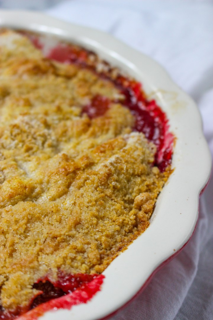 baked crumble topping