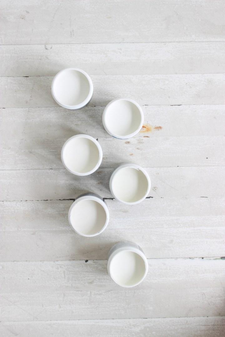 sample pots of BM whites