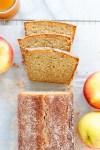 sliced apple cider loaf cake