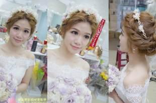新秘顧曼蒂打造新娘婚宴必勝的甜美編髮造型❤仙杜瑞拉自助婚紗
