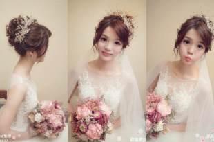 高雄新秘推薦 打造明星般質感清透妝容 夢幻皇冠新娘造型 新娘的最愛
