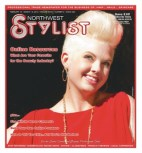 "Stephanie the ""Cover Girl"". Featured on NW Stylist with her platinum under cut."
