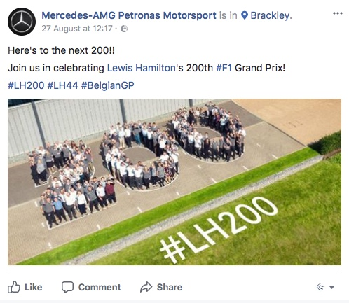 Mercedes-AMG Petronas Motorsport 200th win Facebook
