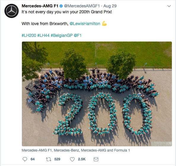 Mercedes-AMG Petronas Motorsport 200th win twitter