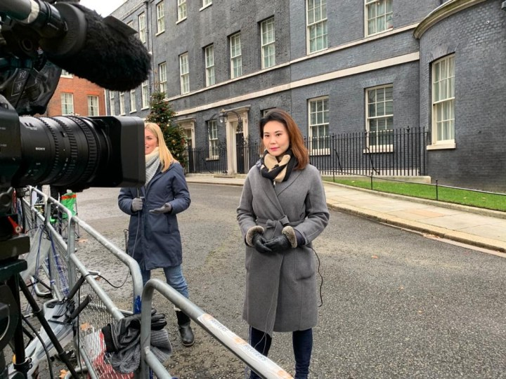LiveU Bonded 4G Broadcast. Downing Street, London, England