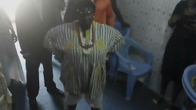 wp-1461143438298 Drama As Juju Woman Appears In Church With Charms And Amulets Around Her Neck (Photo)