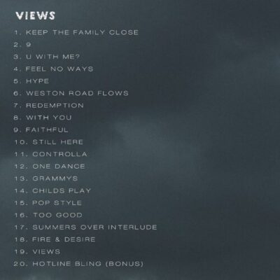 """wp 1461792081814 - Tracklist For Drake's """"Views From The 6"""" Album"""