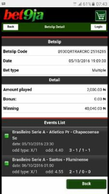 1475746478000 1478346728527 - ​Many Won Recently, BET9JA BETTING CODES, Today 7th Dec 2016 Sure Games,​