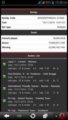 img-20161120-wa0006 ​Many Won Recently, BET9JA BETTING CODES, Today 26th Nov 2016 Sure Games