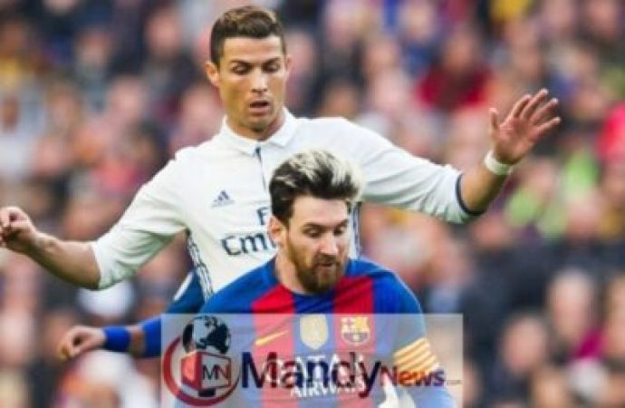 cristiano ronaldo lionel messi barcelona real madrid 690x450 - Messi, Ronaldo, Mbappe Named In FIFA 19 Team Of The Year