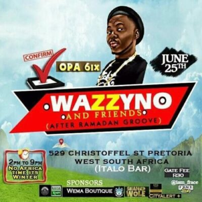 fb img 14982262168966137 - Opa6, Bolo J, Niyas To Perform At Wazzyno's First Show In South Africa