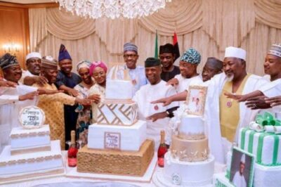 drvgf7mxkaiois2 - President Buhari's Birthday Cake Vs Nigeria's Independence Cake. Nigerians React (Pics)