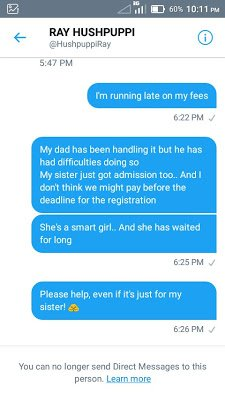 "2ecf2-dtdfqjfwkaeff0x ""I Just Got Duped By Hushpuppi"" - Another Nigerian Student Cries Out For Help (Pics)"