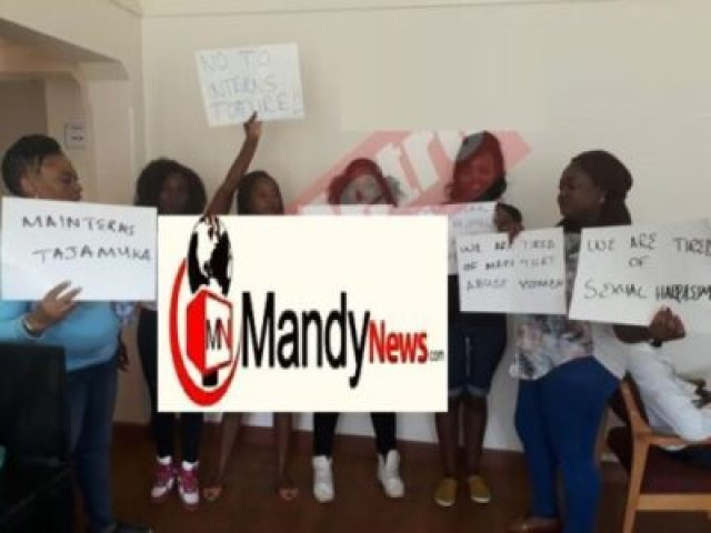 girls-demonstrating Zimbabwe United Nations Vice President Arrested Over Sexual Harassment (Photos)