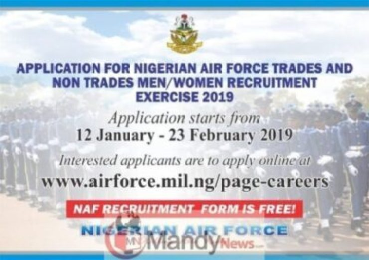 Nigerian Air Force Recruitment Application Form Is Out - 2019