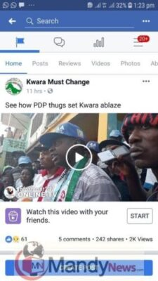 8496670 screenshot20190114132310facebook jpegd287700e58e8145110c78204783af7b31804857743 - Video Of Victim Of Suspected PDP Thugs Attack In Kwara (Graphic)