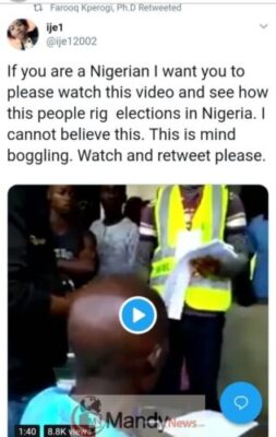 "8509255 img20190116wa0008 jpeg55ce02bc622194cbcd8b33b2d39868ce1647111643 - ""If You Are A Nigerian, Please Watch This & See How They Rig Election"" - Lady"