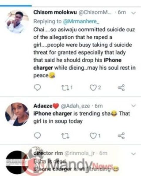 8535753_cymera20190119092431_jpege2df4b0f334ddc0687a8e72fa4d8b404922008663 Iphone Charger Of Nigerian Furniture Seller Who Committed Suicide Trends On Twitter