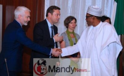 8562458 dxhves1w0aa6uyc jpeg jpeg92584bcac406ce960bf9764127d919ce1404164485 - President Buhari Receives A Delegation Of European Union In Aso Rock Today (Photos)