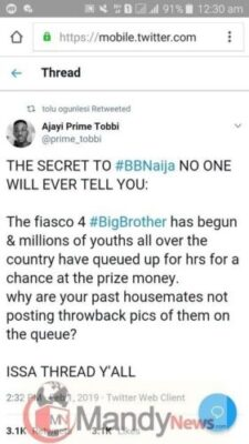 8652821 screenshot20190202003042 jpeg685c59ba8b1d7dca61025ff29786291a304572449 - The Secret To #BBNaija No One Will Ever Tell You By Ajayi Tobbi