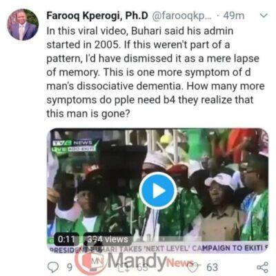 "8684463 img20190205wa0038 jpeg67924544088b59df84991558fca2ceba533154122 - ""Dementia, Buhari Is Gone"": Associate Prof. Reacts To PMB's ""2005 Blunder"" In Ekiti"