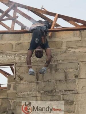 8703098 carpenter1 jpeg1e83accc099a7aea5905ad81c7d54a9a327085225 - Carpenter Electrocuted While Working In Delta State (Disturbing Photos)