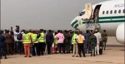 8734191 screenshot20190211112258 jpegdfe7f504f0924bf7c4f17b0029c4bd4f1086526879 - Buhari Arrives In Kwara State To Flag Off Presidential Campaign