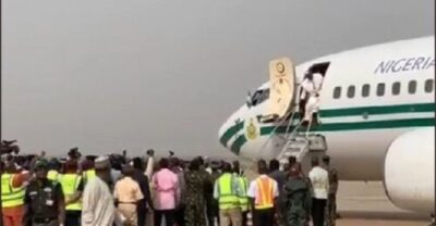8734193 screenshot20190211112327 jpeg17348869f9f98036850fca16a054556d536346509 - Buhari Arrives In Kwara State To Flag Off Presidential Campaign