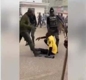 8753968 capture1 jpegb1ff00360a9015ca7795717777a84460 300x277 - Armed Policemen Brutally Beat Road Safety Official Publicly In Kano (Photos)